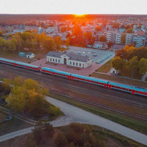"""Fotodrobė """"Varėnos traukinių stotis"""""""